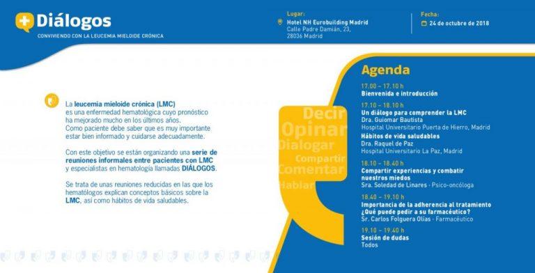 Diálogos Novartis sobre la Leucemia Mieloide Crónica en Madrid