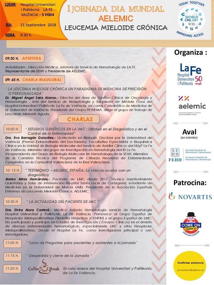 I Jornada Día Mundial – Leucemia Mieloide Crónica