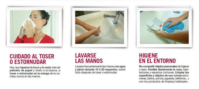 Medidas preventivas básicas para evitar contagiar y ser contagiados de Gripe.