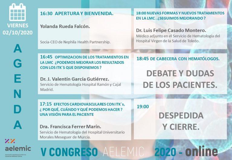 V CONGRESO NACIONAL PACIENTES LMC AELEMIC 2020 ONLINE  01/10/2020 PART 2