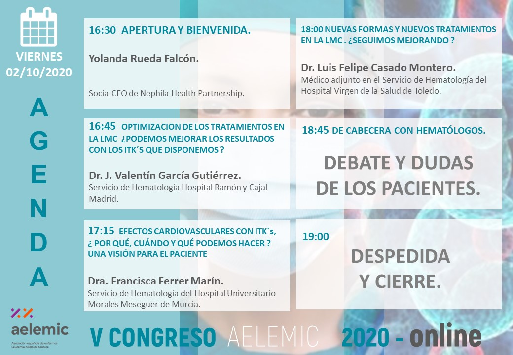 V CONGRESO NACIONAL PACIENTES LMC AELEMIC 2020 ONLINE  01/10/2020 PART 2